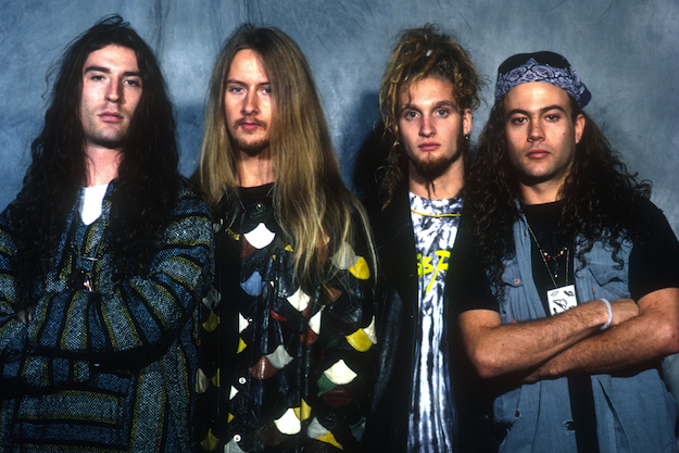 Sean Kinney, Jerry Cantrell, Layne Staley and Mike Starr of Alice In Chains (Photo by Eddie Malluk/WireImage)